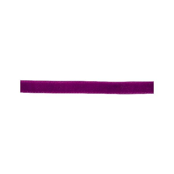 Лента кадифена с кант, 6 mm, 3m Лента кадифена с кант, 6 mm, 3m, винено червена