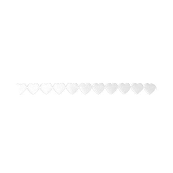 Лента с 3D мотиви, 10 mm, 2m, сърчица Лента с 3D мотиви, 10 mm, 2m, сърчица, бяла