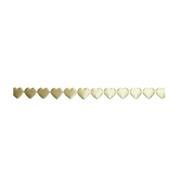 Лента с 3D мотиви, 10 mm, 2m, сърчица Лента с 3D мотиви, 10 mm, 2m, сърчица, кремава
