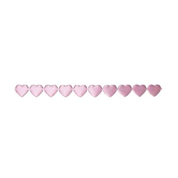 Лента с 3D мотиви, 10 mm, 2m, сърчица Лента с 3D мотиви, 10 mm, 2m, сърчица, розова