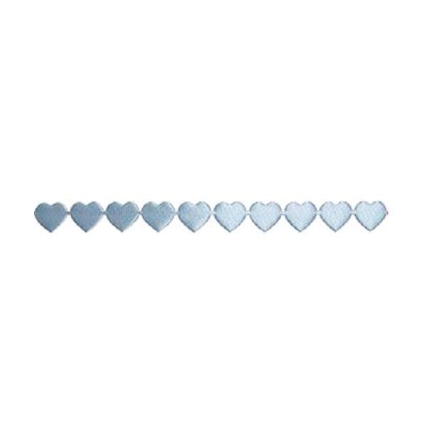 Лента с 3D мотиви, 10 mm, 2m, сърчица Лента с 3D мотиви, 10 mm, 2m, сърчица, светло синя