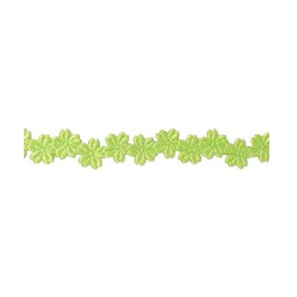Лента с 3D мотиви, 12 mm, 2m Лента с 3D мотиви, 12 mm, 2m, цветчета, зелена