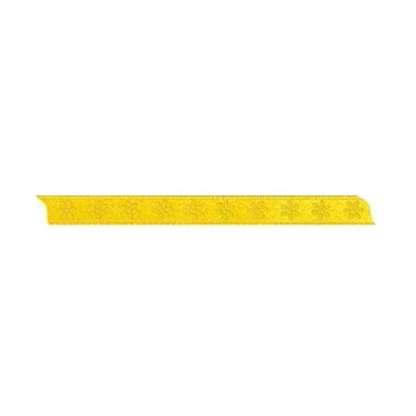 Лента с мотив, 10 mm, 5m Лента с мотив, 10 mm, 5m, жълта с цветчета