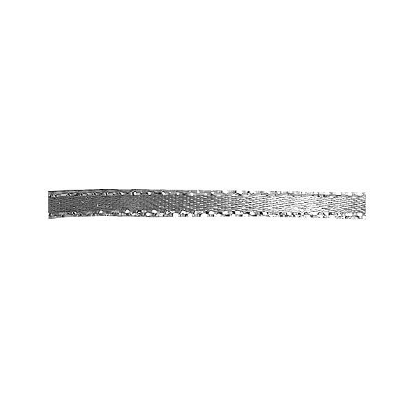 Лента сатенена със златен кант, 3 mm, 10m Лента сатенена със сребърен кант, 3 mm, 10m, сива