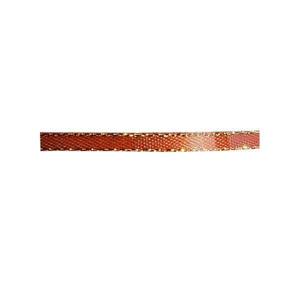 Лента сатенена със златен кант, 3 mm, 10m Лента сатенена със златен кант, 3 mm, 10m, ръжда