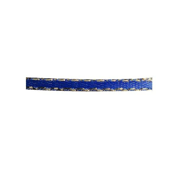 Лента сатенена със златен кант, 3 mm, 10m Лента сатенена със златен кант, 3 mm, 10m, тъмно синя
