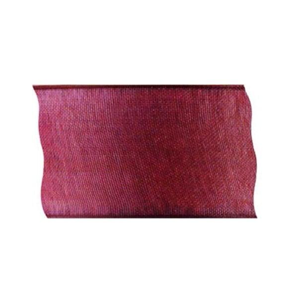 Лента шифон, 100 mm, 2m Лента шифон, 100 mm, 2m, тъмно червена