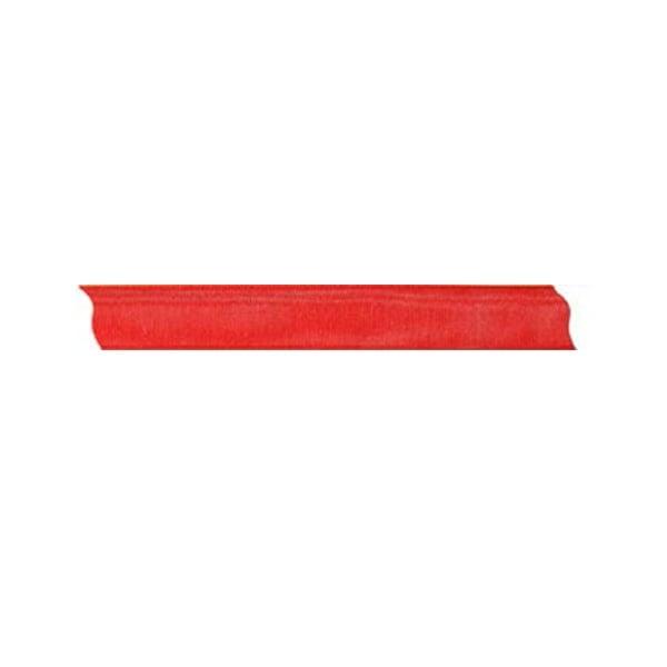 Лента шифон, 15 mm, 10m Лента шифон, 15 mm, 10m, червена