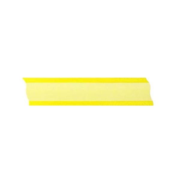 Лента шифон, 25 mm, 25m Лента шифон, 25 mm, 25m, светло жълта