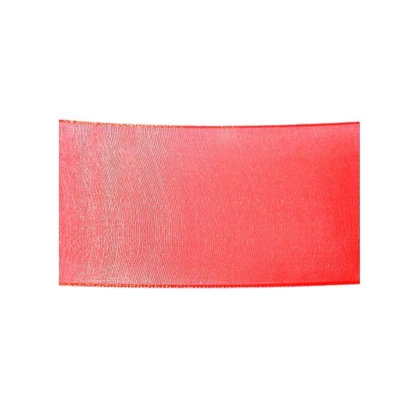 Лента шифон, 40 mm, 10m Лента шифон, 40 mm, 10m, червена