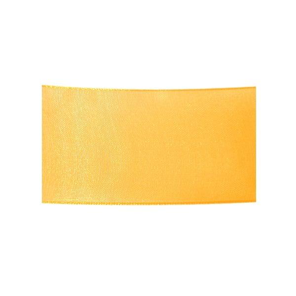 Лента шифон, 40 mm, 10m Лента шифон, 40 mm, 10m, жълта