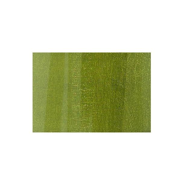 Лента шифон, 40 mm, 10m Лента шифон, 40 mm, 10m, мъхово зелена