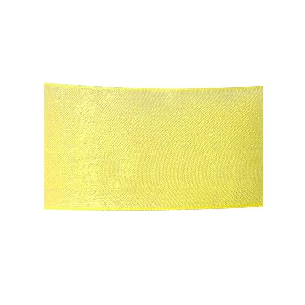 Лента шифон, 40 mm, 10m Лента шифон, 40 mm, 10m, светло жълта