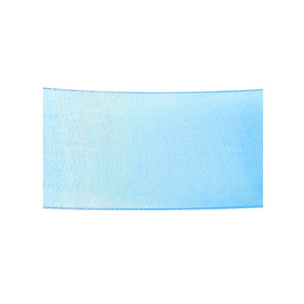 Лента шифон, 40 mm, 10m Лента шифон, 40 mm, 10m, светло синя