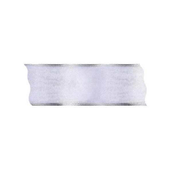 Лента шифон DRAHT, 40 mm, 5m Лента шифон DRAHT, 40 mm, 5m, бяла