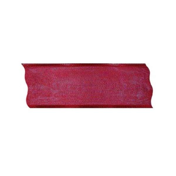 Лента шифон DRAHT, 40 mm, 5m Лента шифон DRAHT, 40 mm, 5m, червена