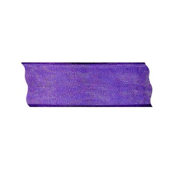 Лента шифон DRAHT, 40 mm, 5m Лента шифон DRAHT, 40 mm, 5m, лилава
