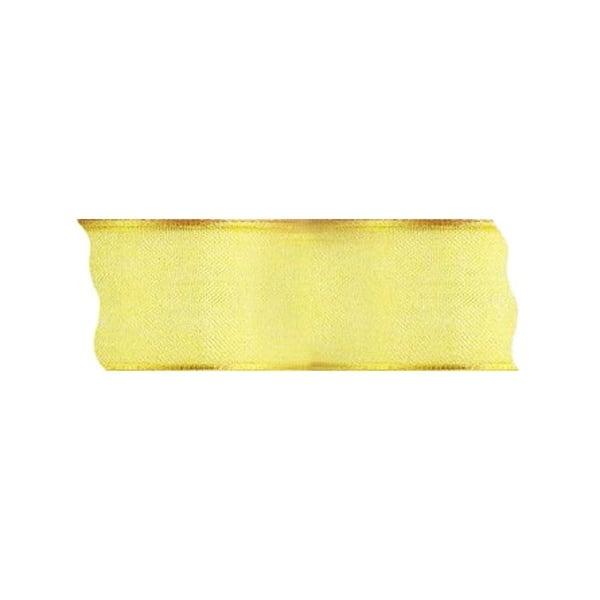 Лента шифон DRAHT, 40 mm, 5m Лента шифон DRAHT, 40 mm, 5m, светло жълта