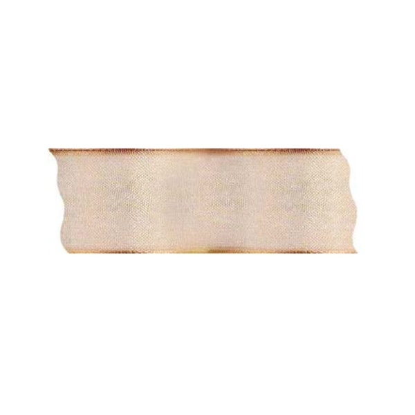Лента шифон DRAHT, 40 mm, 5m Лента шифон DRAHT, 40 mm, 5m, светло оранжева