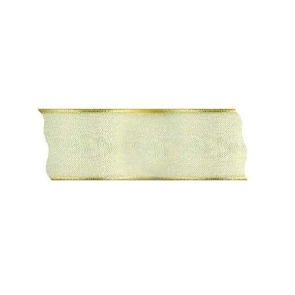 Лента шифон DRAHT, 40 mm, 5m Лента шифон DRAHT, 40 mm, 5m, светло злато