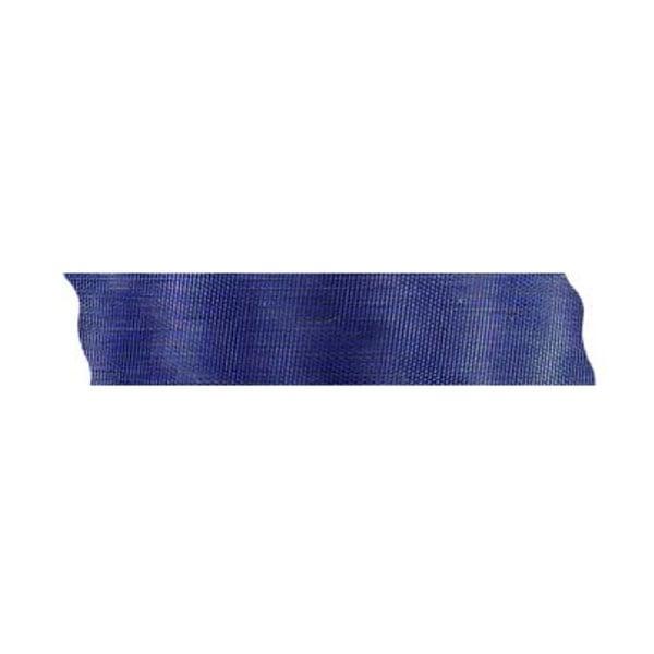 Лента шифон рязана, 25 mm, 10m Лента шифон рязана, 25 mm, 10m, тъмно синя