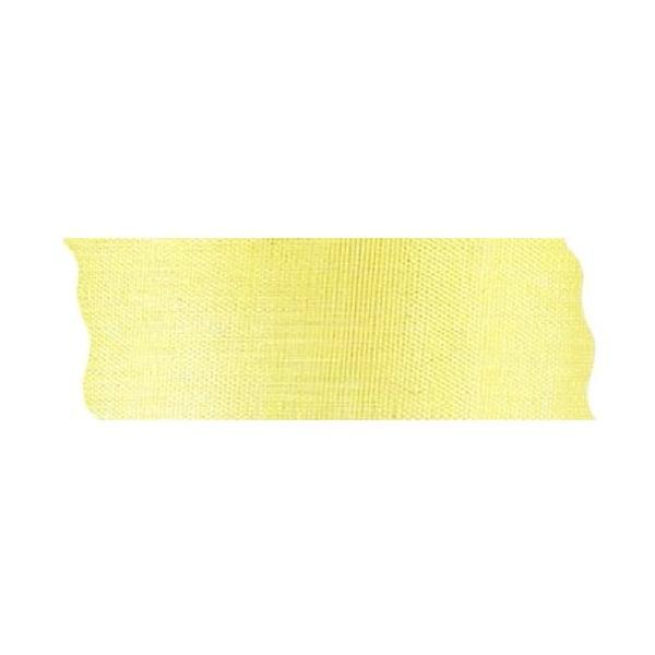 Лента шифон рязана, 40 mm, 10m Лента шифон рязана, 40 mm, 10m, жълта