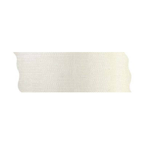 Лента шифон рязана, 40 mm, 10m Лента шифон рязана, 40 mm, 10m, кремава