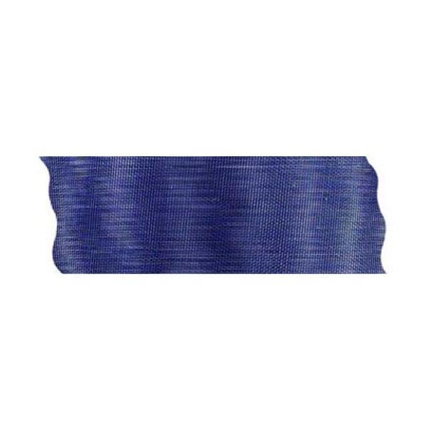 Лента шифон рязана, 40 mm, 10m Лента шифон рязана, 40 mm, 10m, тъмно синя