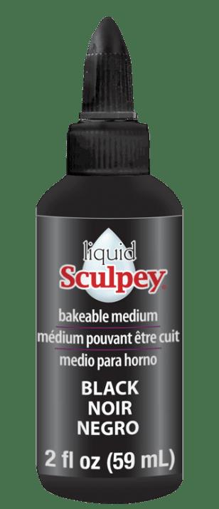 Течна полимерна глина Sculpey, 59 ml, черна