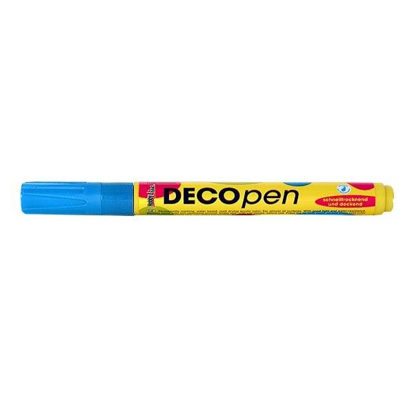 Маркери за декорация Decopen, 1-2 / 2-4 mm Маркер за декорация Decopen, 1-2 mm, светлосин