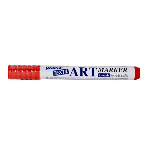 Маркер за рисуване  върху текстил Art Marker, JAVANA Маркер за рисуване Art Marker, JAVANA, червен