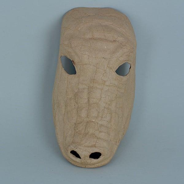 Маска от папие маше, крокодил, 25 x 14 cm