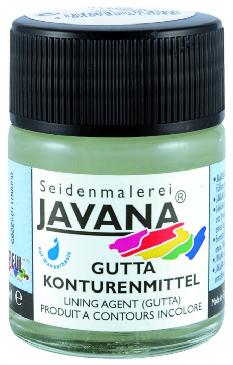 Текстилна боя SILK Gutta Kontur Javana, безцветна Маска за контури SILK JAVANA Kontur, 50 ml, безцветна