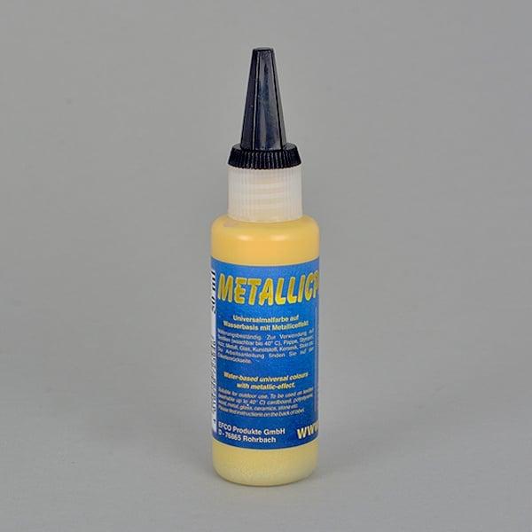 Бои с металиков ефект Metallicpaint, 50 ml  Metallicpaint, 50 ml, жълта
