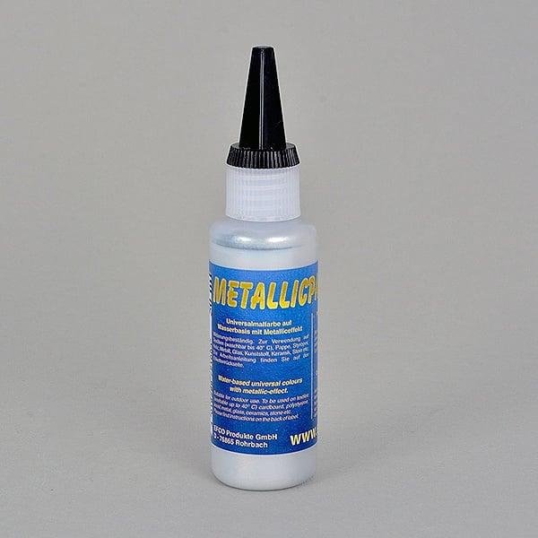 Бои с металиков ефект Metallicpaint, 50 ml  Metallicpaint, 50 ml, сребро