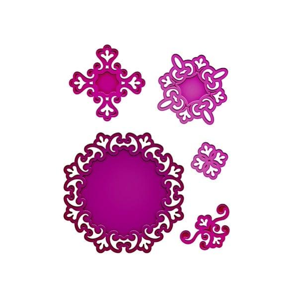 """Метални шаблони за изрязване на хартия """"Shapeabilities"""", ~ 3,2 x 3,2 - 9,8 x 9,8 cm"""