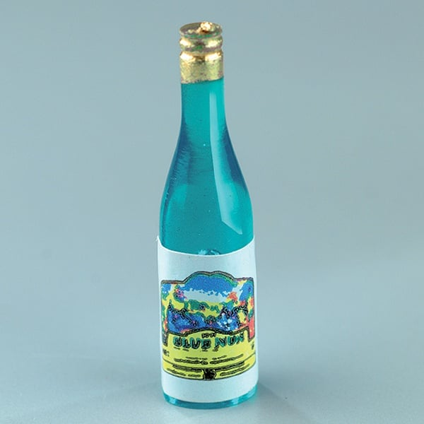 Миниатюра, бутилка шампанско, 3,5 см, 6 бр., зелени