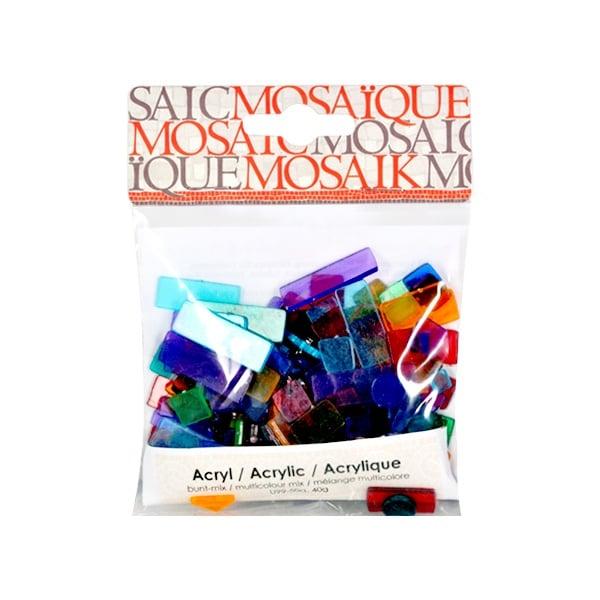 Мозаечни плочки Acrylic Mosaic, 250 бр. Мозаечни плочки Acrylic Mosaic, 250 бр., многоцветен микс