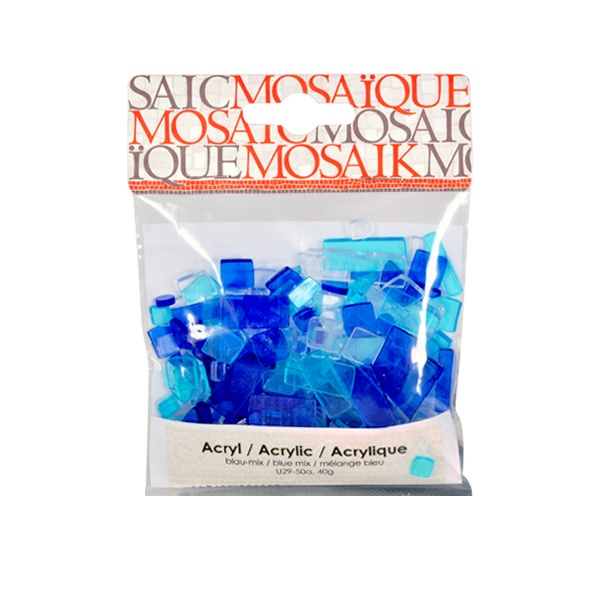 Мозаечни плочки Acrylic Mosaic, 250 бр. Мозаечни плочки Acrylic Mosaic, 250 бр., син микс