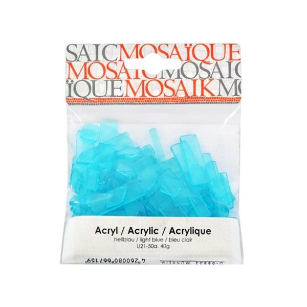 Мозаечни плочки Acrylic Mosaic, 250 бр. Мозаечни плочки Acrylic Mosaic, 250 бр., светло синьо