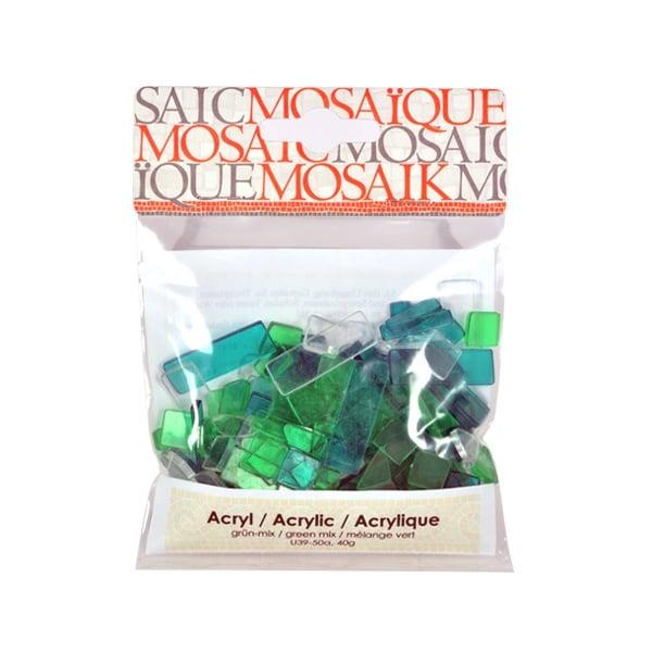 Мозаечни плочки Acrylic Mosaic, 250 бр. Мозаечни плочки Acrylic Mosaic, 250 бр., зелен микс