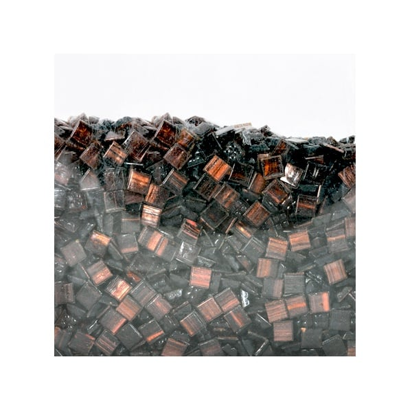 Мозаечни плочки GoldLine, стъкло, 25x5 mm, 1500 бр., кафяви