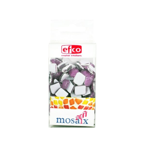 Мозаечни плочки MosaixSoft, стъкло, 25x5 mm, 140 бр., морави