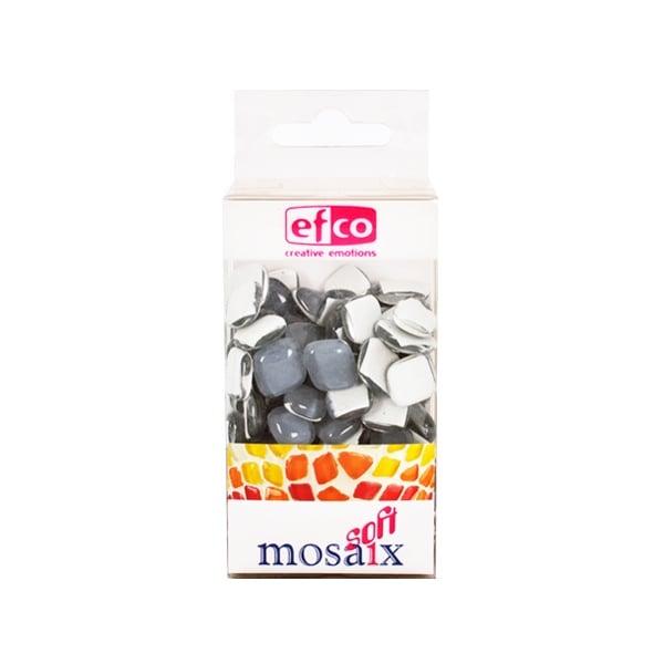 Мозаечни плочки MosaixSoft, стъкло, 25x5 mm, 140 бр., сиви