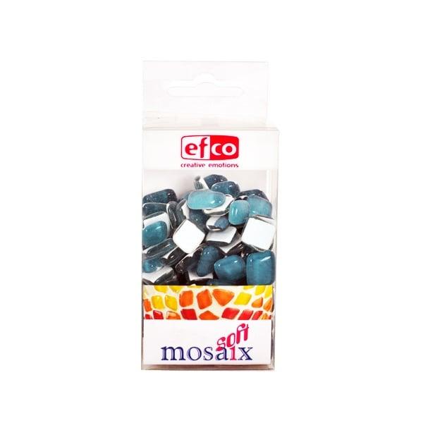 Мозаечни плочки MosaixSoft, стъкло, 25x5 mm, 140 бр., тюркоазени