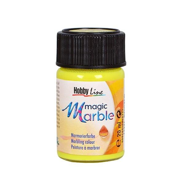 Мрамориращи бои Magic Marble Marmorierfarbe, 20 ml Мраморираща боя Magic Marble Marmorierfarbe, 20 ml, неоново жълта