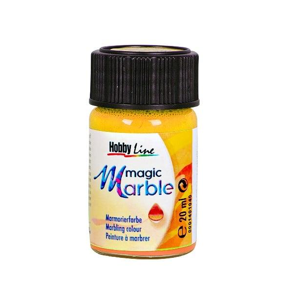 Мрамориращи бои Magic Marble Marmorierfarbe, 20 ml Мраморираща боя Magic Marble Marmorierfarbe, 20 ml, слънчево жълта