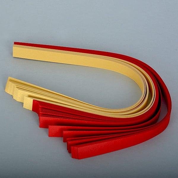 Набор ленти за празнични звезди, 130 g/m2, 1,5 x 45 cm, 80 л., червени/ златни