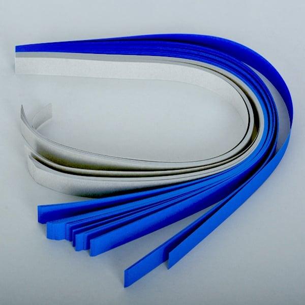 Набор ленти за празнични звезди, 130 g/m2, 1,5 x 45 cm, 80 л., сини/ сребърни