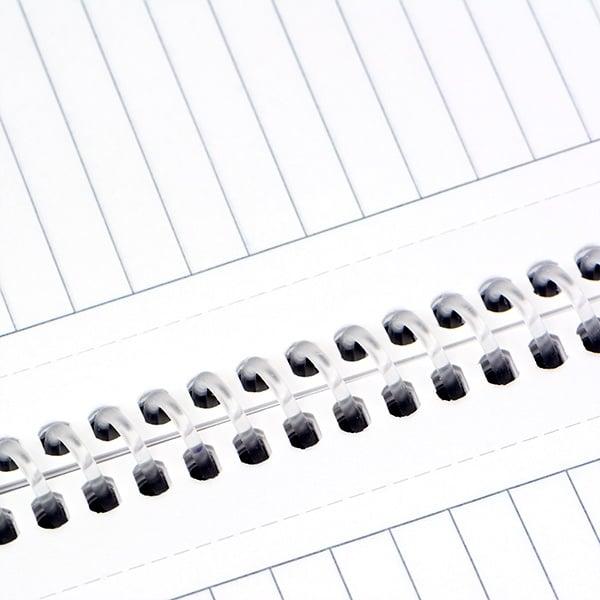 Тетрадка Notte Eko, A4, спирала, PP корица, 60 л., ред, 60 g/m2